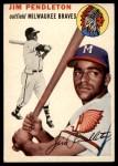 1954 Topps #165  Jim Pendleton  Front Thumbnail