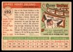 1955 Topps #192  Jim Delsing  Back Thumbnail