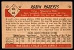 1953 Bowman #65  Robin Roberts  Back Thumbnail