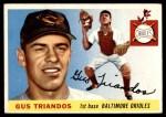 1955 Topps #64  Gus Triandos  Front Thumbnail