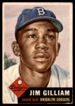 1953 Topps #258  Jim Gilliam  Front Thumbnail