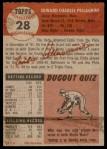 1953 Topps #28  Eddie Pellagrini  Back Thumbnail