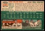1954 Topps #244  Leroy Wheat  Back Thumbnail