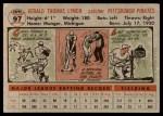 1956 Topps #97  Jerry Lynch  Back Thumbnail