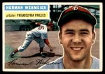 1956 Topps #78  Herm Wehmeier  Front Thumbnail