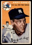 1954 Topps #105  Andy Carey  Front Thumbnail