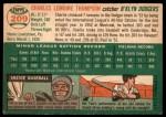 1954 Topps #209  Charlie Thompson  Back Thumbnail