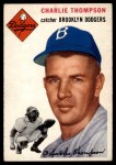 1954 Topps #209  Charlie Thompson  Front Thumbnail