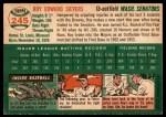 1954 Topps #245  Roy Sievers  Back Thumbnail