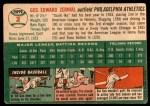 1954 Topps #2  Gus Zernial  Back Thumbnail