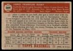 1952 Topps #309  Jim Busby  Back Thumbnail