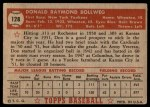 1952 Topps #128  Don Bollweg  Back Thumbnail