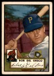 1952 Topps #353  Bobby Del Greco  Front Thumbnail