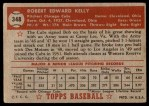 1952 Topps #348  Bobby Kelly  Back Thumbnail