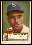 1952 Topps #326  George Shuba  Front Thumbnail