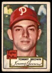 1952 Topps #281  Tommy Brown  Front Thumbnail