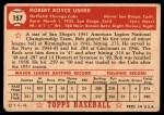1952 Topps #157 CRM Bobby Usher  Back Thumbnail