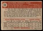 1952 Topps #338  Sal Yvars  Back Thumbnail