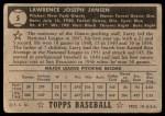 1952 Topps #5  Larry Jansen  Back Thumbnail