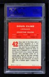 1963 Fleer #42  Doug Cline  Back Thumbnail