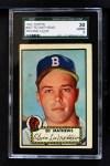 1952 Topps #407  Eddie Mathews  Front Thumbnail