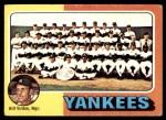 1975 Topps Mini #611   -  Bill Virdon Yankees Team Checklist Front Thumbnail