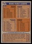 1976 Topps #454   Bears Team Checklist Back Thumbnail