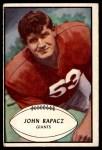 1953 Bowman #57  John Rapacz  Front Thumbnail
