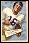 1952 Bowman Large #16  Frank Gifford  Front Thumbnail