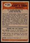 1955 Bowman #77  Al Dorow  Back Thumbnail