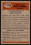 1955 Bowman #118  Royce Womble  Back Thumbnail