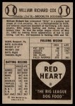 1954 Red Heart  Billy Cox     Back Thumbnail