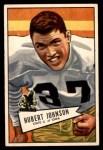1952 Bowman Small #108  Hubert Johnston  Front Thumbnail