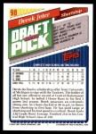 1993 Topps #98  Derek Jeter  Back Thumbnail
