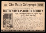 1954 Topps Scoop #120   Mutiny On The Bounty Back Thumbnail