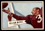 1952 Bowman Small #60  Bill McColl  Front Thumbnail