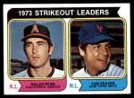 1974 Topps #207   -  Nolan Ryan / Tom Seaver Strikeout Leaders   Front Thumbnail