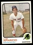 1973 Topps #165  Luis Aparicio  Front Thumbnail