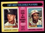 1975 Topps #199   -  Roger Maris / Frank Robinson 1961 MVPs Front Thumbnail