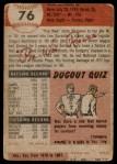 1953 Topps #76  Pee Wee Reese  Back Thumbnail