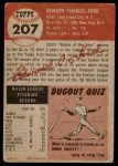 1953 Topps #207  Whitey Ford  Back Thumbnail