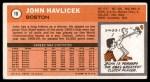 1970 Topps #10  John Havlicek   Back Thumbnail