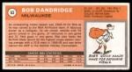1970 Topps #63  Bob Dandridge  Back Thumbnail