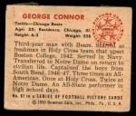 1950 Bowman #97  George Connor  Back Thumbnail
