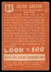 1952 Topps Look 'N See #84  Julius Caesar  Back Thumbnail