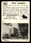 1951 Topps Magic #55  Dale Samuels  Back Thumbnail