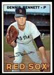 1967 Topps #206  Dennis Bennett  Front Thumbnail