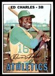 1967 Topps #182 BLU Ed Charles  Front Thumbnail