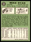 1967 Topps #223 DOT Mike Ryan  Back Thumbnail