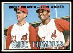 1967 Topps #109   -  Rocky Colavito / Leon Wagner Tribe Thumpers Front Thumbnail